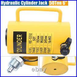 New 50-Ton 6 Stroke Hydraulic Cylinder Jack Single Acting Hollow Ram Heavy Duty