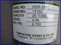 Simplex 25 Ton Hydraulic Ram Cylinder 4 Stroke Hsr-254t