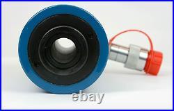 TEMCo Hollow Hydraulic Cylinder Ram 20 TON 4 In Stroke 5 YEAR Warranty